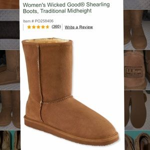 MAKE AN OFFER! LLBean Wicked Good Shearling Boots